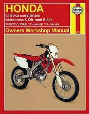 Honda CRF250 and CRF450 Motocross & Off-road Bikes: 2002 thru 2006 R-models, X-m