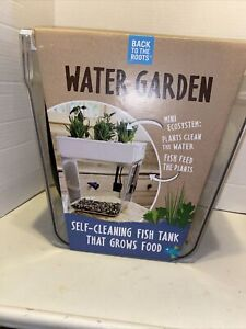 Back to the Roots Water Garden Mini Ecosystem Aquaponics Self-cleaning Fish Tank