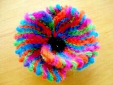 Beautiful Rainbow Coloured Flower Brooch Handmade 5cms FREEPOST Rainbow Bridge
