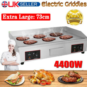 Large Electric Griddle Countertop Hot plate BBQ Grill Bacon Flat Bouble Burner