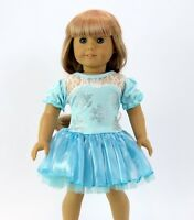 "Snowflake dress 18"" doll clothing fits American Girl"