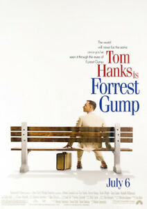 Forest Gump Movie Poster Available in A2(420mmx297mm) & A1(594mm X 841mm)