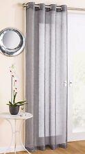 Tyrone Textiles Marrakesh Eyelet Single Panel Curtain Grey 137cm W X 183cm L