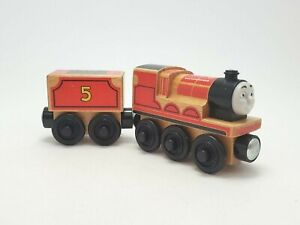 THOMAS the TANK & FRIENDS WOODEN Railway JAMES With Tender 2012