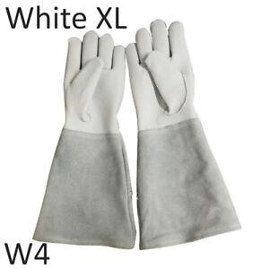 Rose Pruning Gardening Gauntlet Gloves Thorn Proof Long Sleeve Work Welding US[