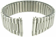 17-21mm Kreisler Twist-O-Flex Silver Tone Stainless Expansion Watch Band Long