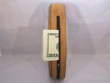 LEATHER  MONEY BELT  ZIPPER NEW BLACK SAFE SIZE X-LARGE PERFECT FOR TRAVELLING