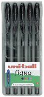Uni-Ball Signo Gel Pens - UM-120 - Black - Wallet of 5