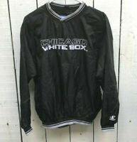 Chicago White Sox Logo Athletic Pullover Warm up Windbreaker Jacket Boy's XL MLB