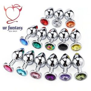 Set 3pcs Butt Plug Anal Sex Toy Adult Funny Game Romance Lady Stainless Steel
