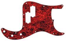 P Bass Precision Pickguard Custom Fender 13 Hole Guitar Pick Guard Red Fibres