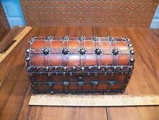 Vintage Wooden Treasure Chest Dresser Box / Jewelery Box / Trinket Box