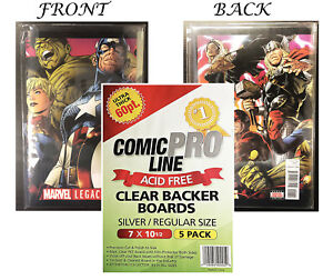 CPL Crystal Clear Premium Quality Archival 60pt Silver Comic Boards 5ct Pack