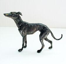 Vintage Metal Greyhound Whippet Dog Figurine