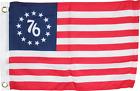 12X18 INCH BOAT FLAG BETSY ROSS '76 BICENTENNIAL SPIRIT 1776 1ST AMERICAN BANNER
