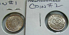 Newfoundland 5 Cents Silver Study Coins 1941 C Die Crack Flashy Lustrous