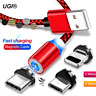 1~2M Micro USB C Magnet Quick Charger Data Charging Cable Lead For iPhone 6s 7 8