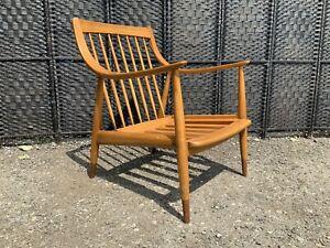 Peter Hvidt & Orla Mølgaard-Nielsen Chair. Rare Danish mid-century vintage retro
