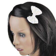 Accessoires de coiffure barrettes blancs en tissu pour femme