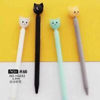 Big Head Mechanical Pencil Plastic Cat Animals Automatic Pen Writing Tool Supply