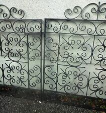 Lovely Large Set Of Antique Style Wrought Iron Galvanised Drive Way Gates