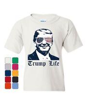 Trump Life Youth T-Shirt 45th MAGA Keep America Great Thug Life Parody Kids Tee