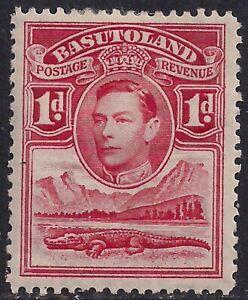 Basutoland 1938 KGV1 1d Scarlet MM SG 19 ( M1147 )