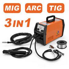 HITBOX 3in1 MIG Welder Inverter 220V LIFT TIG ARC Wire Gasless Welding Machine