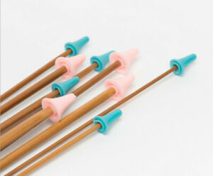 Knitting Needle Point Protectors Small Large Protect Cap Point Pair Rubber