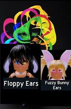 Custom pic with FREE: Fuzzy bunny ears, Floppy Ears BUNDLE Royale High Easter