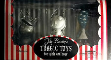Tim Burton's Tragic Toys (3 Pack) Vinyl Figure Set NEW
