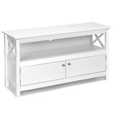 TV Free Standing Wooden Cabinet Console Media Organizer White Home Furniture