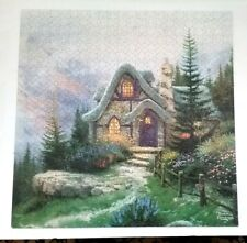 HIDDEN COTTAGE  550 PIECE JIGSAW PUZZLE by THOMAS KINKADE.