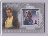 2020 Topps Star Wars Masterwork OBI-WAN KENOBI & DARTH MAUL Stamp Relic Card