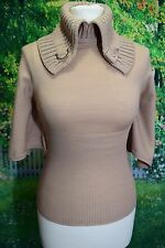 KAREN MILLEN Top Riding Hunting Jumper Pullover Knitwear Cape Size 1 UK 6 8