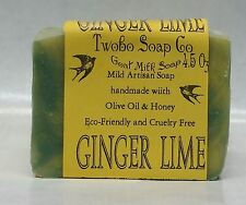 Ginger Lime Goat Milk Soap  -  Olive Oil/Avacado oil - FREE SAMPLES
