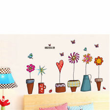 flower wall sticker kitchen window sticker home decor pvc wall decal removabl LL