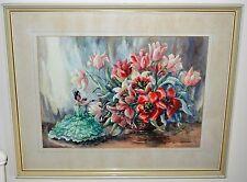 """Fiesta"" Watercolour by Gladys Dawson British Artist 73 X 58 cm Framed £60"