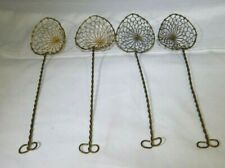 Vintage Twisted Wire Egg Spoon Strainer Lifter Kitchen Utensil Set of 4 MT