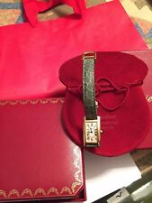 1710 Cartier LADY Tank Americaine 18k Yellow Gold Automatic WATCH &  GOLD CLASP