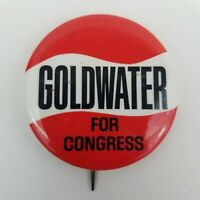 Vintage Goldwater For Congress Pinbacks Collectible Button