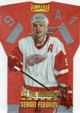 96-97 Pinnacle By the Numbers Die-Cut Sergei Fedorov Red Wings