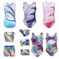Kids Girls Ballet Dance Gymnastics Leotards Sleeveless Dancewear Costumes 5-14Y