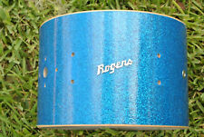 "RARE 1960's Rogers 12"" TOWER TOM SHELL in BLUE SPARKLE for YOUR DRUM SET! #Z962"