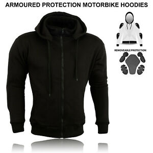 Motorcycle CE Protection Men Mesh Lined Removable Armored Unisex Fleece Hoodie