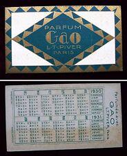 """ANCIENNE CARTE PARFUMEE """"GAO"""" DE LA PARFUMERIE L.T. PIVER"""