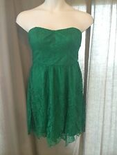 NEW Green Lace Strapless Dress Thistlepearl Urban Outfitters NWOT