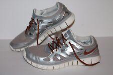 Nike Free Run 2 + Prem Running Shoes, #555340-003, Grey/Slvr/Bronze, Women's 9.5