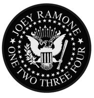RAMONES Seal Joey Ramone Woven Patch Sew On Official Band Merch Punk (New)