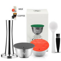 Stainless Steel Refillable Coffee Capsule Spoon Brush For Nescafe Dolce Gusto